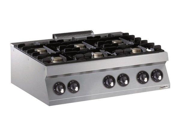 Combisteel Gasherd 6 Branders- 6 x 5,5kW - 1200x700x (h) 250mm