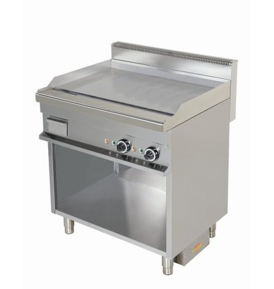 Combisteel Gas tray plate Chrome with open base | Happy | 6kW | 800x700x900 (h) mm