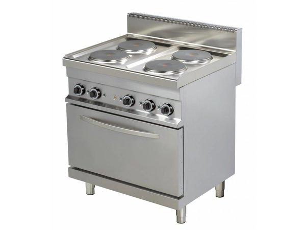 Combisteel Ofen Elektrisch 4 Flammen mit Backofen - 4 x 2,6kw - 800x700x (h) 900mm