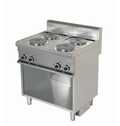 Combisteel Stove Electric 4 Pits Open Base - 4 x 2.6kw - 800x700x (h) 900mm