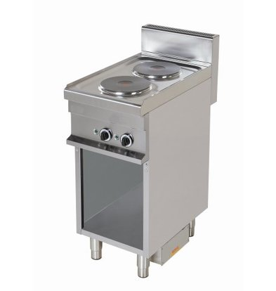 Combisteel Stove Electric 2 Pits Open Base - 2 x 2.6kw - 400x700x (h) 900mm