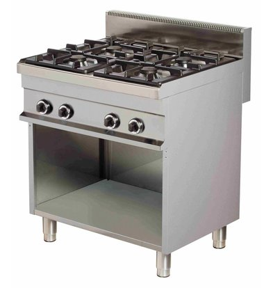Combisteel Stove Gas 4 Pits Open Base - 4 x 6kw - 800x700x (h) 900mm