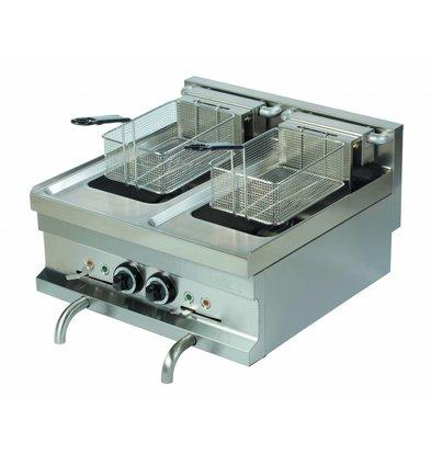 Combisteel Electric Fryer 2 x 8 Liter - 2 x 7.5kw - 400V - 400x600x (h) 265mm