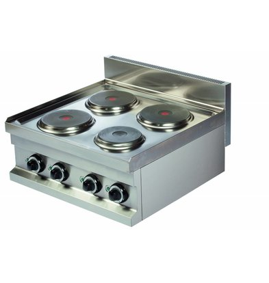 Combisteel Stove Electric 4 Burners - 4x2kw 400V - 600x600x (h) 265mm