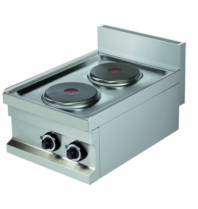 Combisteel Stove Electric 2 Burners - 2x2kw 400V - 400x600x (h) 265mm