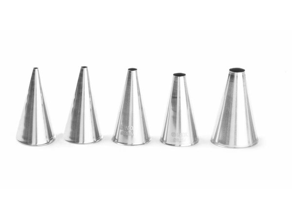 Hendi Nozzles Stainless steel set Smooth