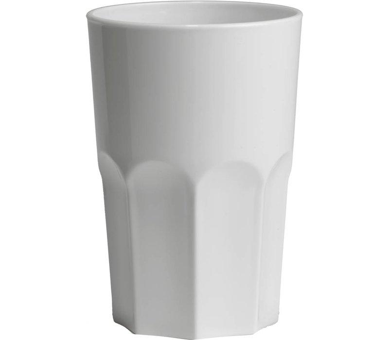 XXLselect Granity glass 40cl White Plastic PP - Per 15 Pieces