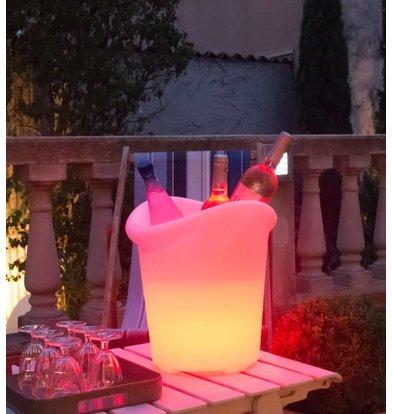 Lumisky Verlichte Wijnkoeler Yuppy C 35cm | 5W (Batterij) | Gekleurd Licht | Per 4 Stuks