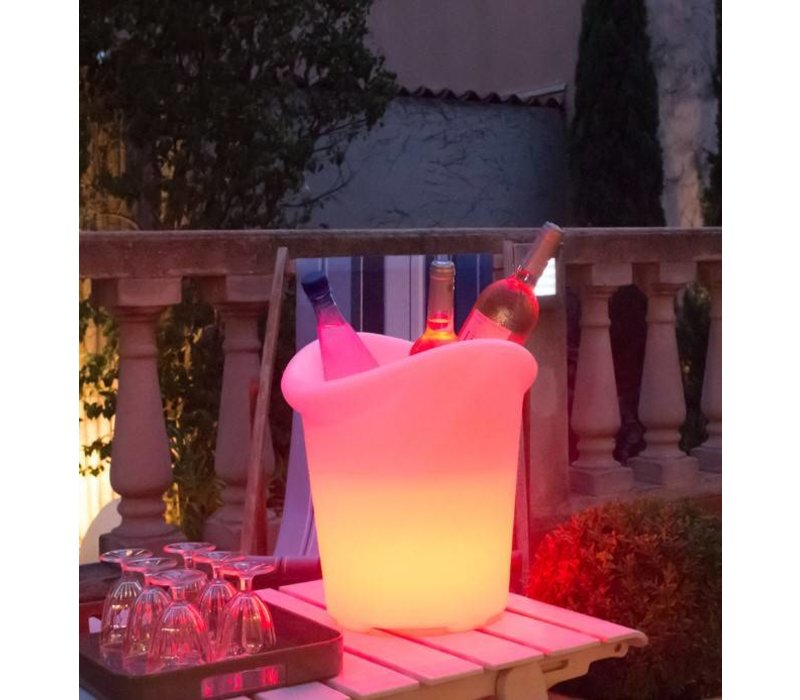 Lumisky Verlichte Wijnkoeler Yuppy C 35cm | 5W (Batterij) | Gekleurd ...