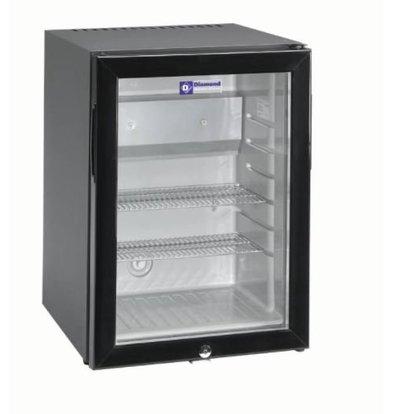 Diamond Silent Mini fridge - 42 Liter - glass door - XXL Offer - 40x45x (h) 56cm