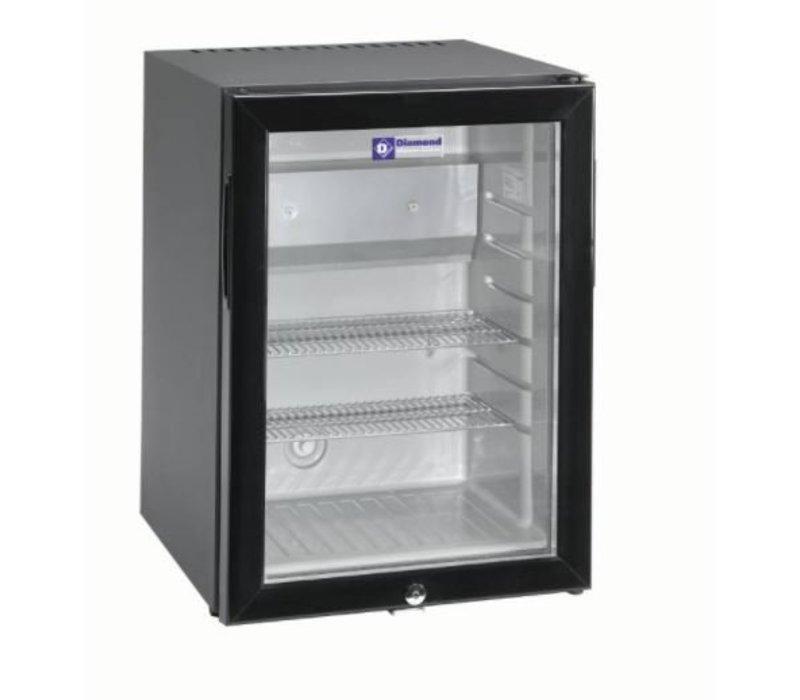 diamond silent mini k hlschrank 42 liter glast r xxl angebot 40x45x h 56cm. Black Bedroom Furniture Sets. Home Design Ideas