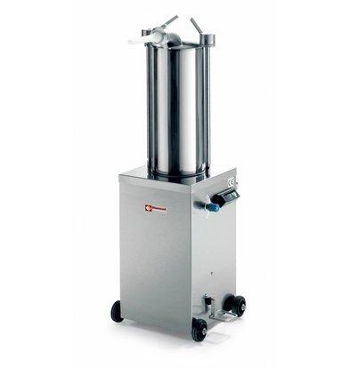 Diamond Worstenvuller / Stopfbuchse auf Rädern - 15 Liter - 0,7 HP - 490x700x (h) 1200mm