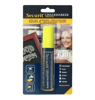 Securit Thick chalk pen Yellow | 7-15mm