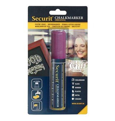 Securit Thick chalk pen Purple | 7-15mm