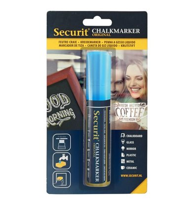 Securit Dicker Chalk Marker | blue | 7-15mm