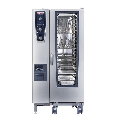 Rational Rational Steamer CM 201E Plus Elektrisch | Combimaster Plus 201 | 20x1/1GN of 40 x 1/2GN | 150-300 Couverts