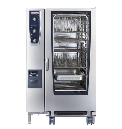 Rational Rational Steamer CM 202G Plus-Gas | Combimaster Plus Typ 202 | 20x2 / 1 GN oder 40 x 1/1 GN | 300-500 Gedecke