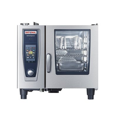 Rational Rational SCC Kombidämpfer 61G Gas | Selfcooking Center Typ 61 | 6 x 1/1 GN oder 12 x 1 / 2GN | 30-80 Gedecke