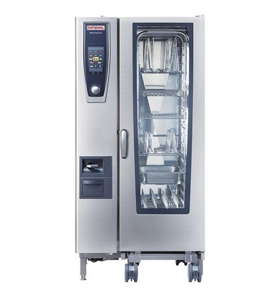 Rational Rational SCC 201G Gas-Dampfer | Selfcooking Center Typ 201 | 20x1 / 1 GN oder 40 x 1 / 2GN | 150-300 Gedecke
