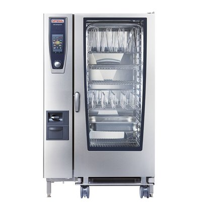 Rational Rational SCC 202G Gas Steamer | SelfCooking Center Type 202 | 20x2 / 1GN or 40 x 1 / 1GN | 300-500 Place Settings