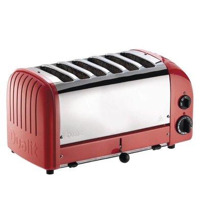 Dualit Dualit Toaster Red | 6 Slots | Scheiben auf 195 p / h