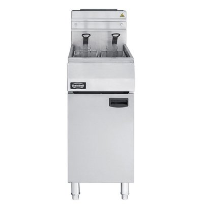 Combisteel Fryer Gas 21 Liter - 27 kW power with chassis