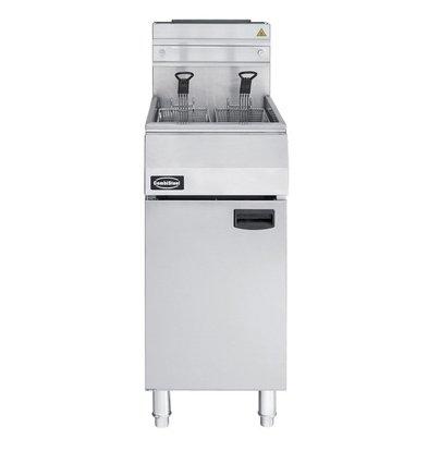 Combisteel Fryer Gas 21 Liter - 27kW Leistung mit Sockel