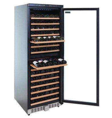 Polar Wein Kühlschrank Catering mit zwei Zonen - 155 Flaschen - Blau-LED-Bildschirm - 595x680x (H) 1805mm