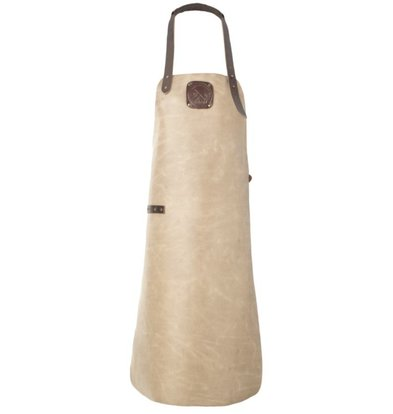 Witloft Leren Schort Witloft | Apron Regular Taupe/Dark Brown | WL-ARU-08 | Unisex  | Large (85L x 60B)cm