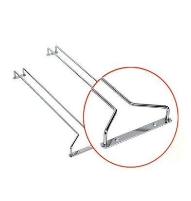 Bar Professional Glas 400x110mm | Chrom | pro 2 Stück
