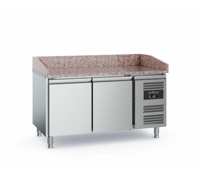 Ecofrost Pizza Workbench - Edelstahl - Türen 2 - 152x800x (h) 100cm