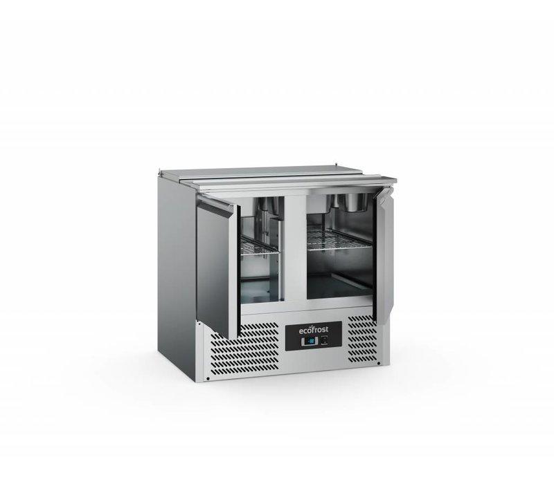Ecofrost Saladette - 2 Tür - 240 Liter - 90x70x (h) 88cm