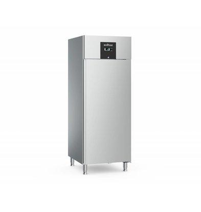 Ecofrost Edelstahl Kühlschrank Catering - 650 Liter - HEAVY DUTY - 74x83x (h) 201cm