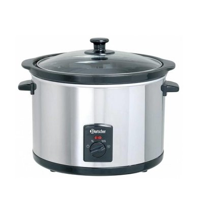 Bartscher Slow Cooker Around + perforated insert Ceramics - 5.5 liters