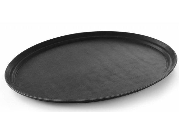 Hendi Dienblad Ovaal XL   Glasvezel Zwart   735x600mm