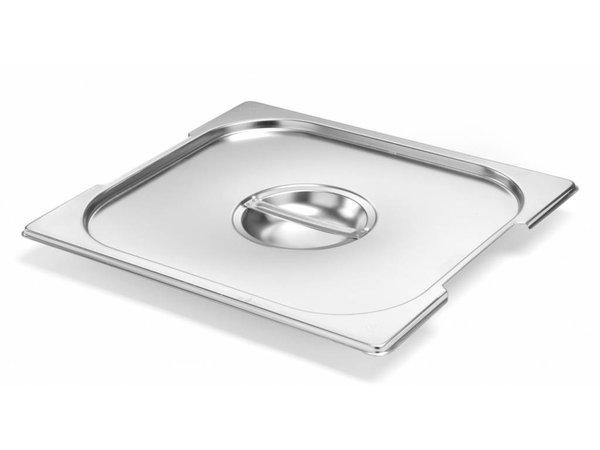 Hendi Gastronorm Deksel 1/1 - RVS | met Uitsparing voor Handgrepen