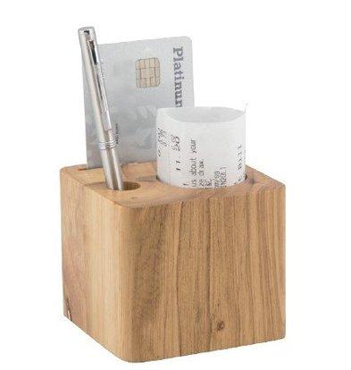 Securit Konto | Holzblock mit 3 Fächern | 70x80x80mm