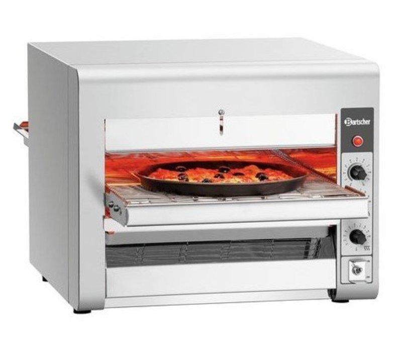Bartscher Blättern Sie Pizzöfen Edelstahl | für Pizzen Ø320mm | 3,5kW | 1045x472x395 (h) mm