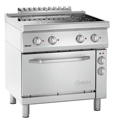 Bartscher Ceramic Stove with Electric Oven 4 Cooking plates x Ø210mm | Gastronorm 1/1 | 800x700x850 (h) mm
