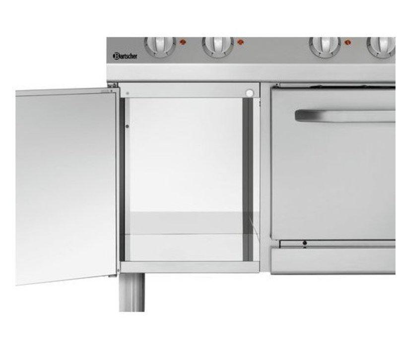 Bartscher Elektroherd mit Backofen | 6 Kochen Ø220mm | 400V | GN 1/1 | 1200x700x850 (h) mm