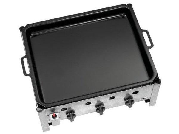 Bartscher Gas Tabelle Roast Grill | 10kW | Enameled Griddle | 3 Brenner | 700x560x310 (h) mm