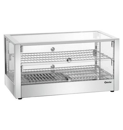 Bartscher Warming showcase SQUARE | 80 liters 1kW | Two-sided Operable 700x430x365 (h) mm