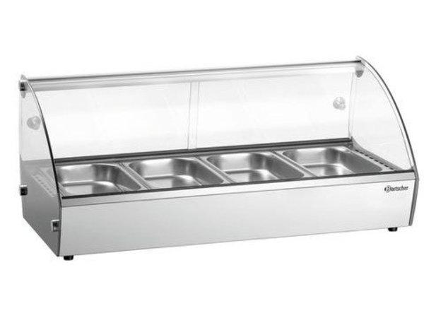 Bartscher Beheizte Struktur Displayglas | 4x GN1 / 3-Backen-Incl. | 500W | 420x775x335 (h) mm
