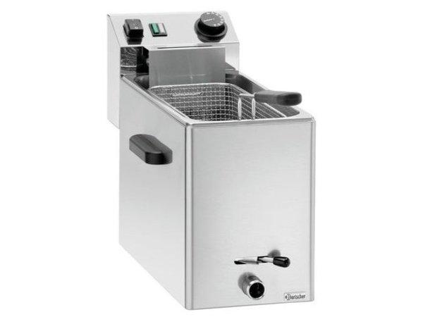 Bartscher Friteuse SNACK XL Plus | 8 Liter | 3,4kW | Aftapkraantje | 245x720x470(h)mm