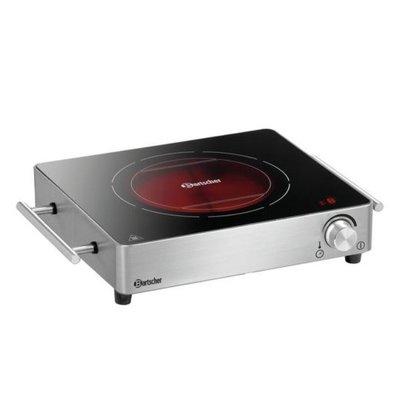 Bartscher Keramische Kookplaat | 2200W | RVS Behuizing | 395x315x85(h)mm