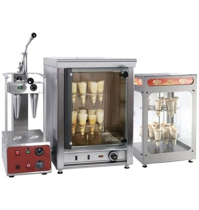 Safecold Pizza Cone System Complete set: Moulder, Hot air oven and Showcase!