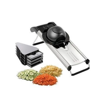 XXLselect Mandolin - Vegetable slicer - stainless steel - 5 knives