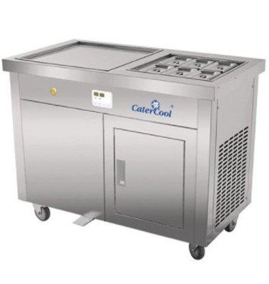 CaterCool IJsteppanyaki RVS met Garneerunit 6x GN1/9 | Digitaal | 230V/3600W |  1160x640x960(h)mm
