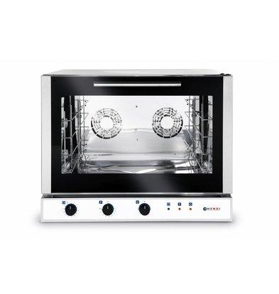 Hendi Heißluft-Bäckerei / Euronorm Ofen - Automatische Dampfinjektion - 4 x 600x400mm - 400V
