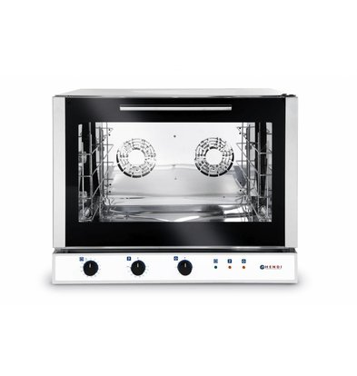Hendi Hot Air Bakery / Euronorm Oven - Automatic Steam Injection - 4 x 600x400mm - 400V